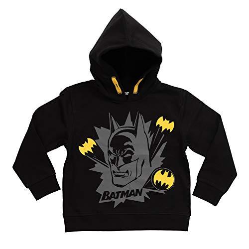 United Labels Batman- Jungen Hoodie schwarz, Kinder Pullover Sweatshirt (110/116)