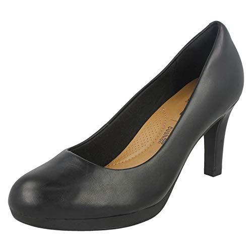 Clarks Damen Adriel Viola Pumps, Schwarz (Black Leather), 36 EU