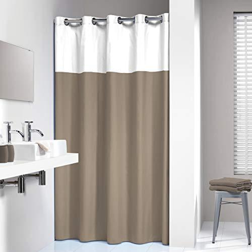 cortinas baño lino
