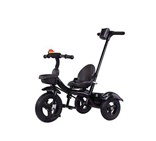 Triciclo Bebe Triciclos de pedal for niños Coches triciclo de niños con padres desmontable manija de empuje for 1-6 años de edad Pedal Niño Niña retráctil reposapiés for niños bicicleta de niño Scoote