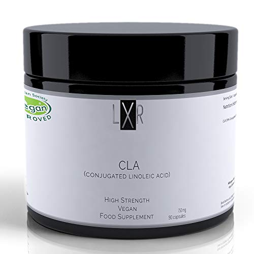 LXR Vitamins Vegan Conjugated Linoleic Acid - Plant Based CLA Supplement - Omega 6 Vegan Capsules for Men and Women - High Strength Vitamins - Organic and Non-GMO Formula - 90 Capsules