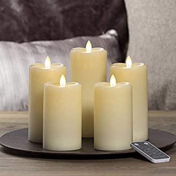 Sterno Home LED Moving Flame Candle 5-Piece Set