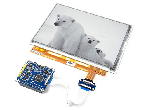 Waveshare 9.7 inch E-Ink Display HAT for Raspberry Pi Zero/Zero W/Zero WH/2B/3B/3B+ E-Paper Screen with 200x825 Resolution IT8951 Controller USB/SPI/I80 Interface