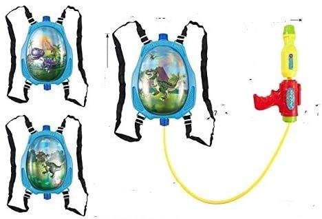 3D TRex Dinosaur Water Blaster Backpack Gun Kids Outdoor Soaker Pistol