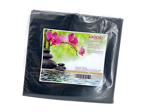 eXODA Inkontinenzlaken Unterlaken Matratzenauflage schwarz 200x230 cm Inkontinenzauflage Inkontinenz-Bettlaken auch für Kinder