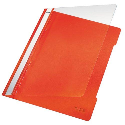 Esselte Leitz Hefter Standard, A4, langes Beschriftungsfeld, PVC, orange