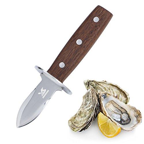 MSY BIGSUNNY Austernöffner, Messer mit Griff aus Palisander – Full Tang Edelstahl