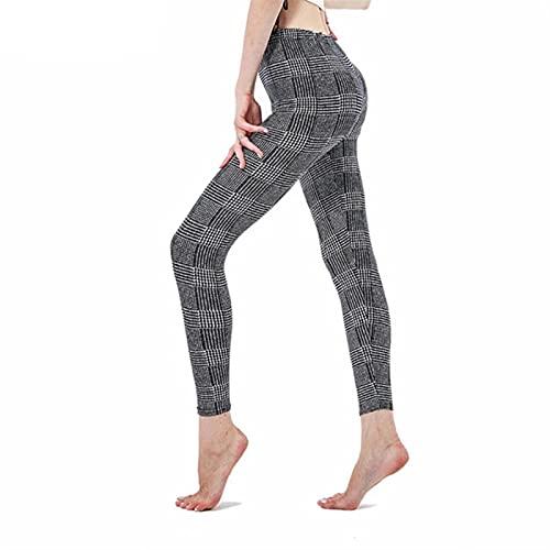 UKKO Polainas Plaid Leggings Mujeres Pantalones Push Up Leggings Fitness Leggins Gym Sporting Alto Cintura...