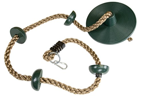 Squirrel Products Climbing Rope with Disc Swing  Green