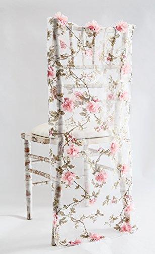 Roze Bloesem Organza Stoel Cap/Tafelkleed Of Tafelloper Bruiloft Stoelen Event