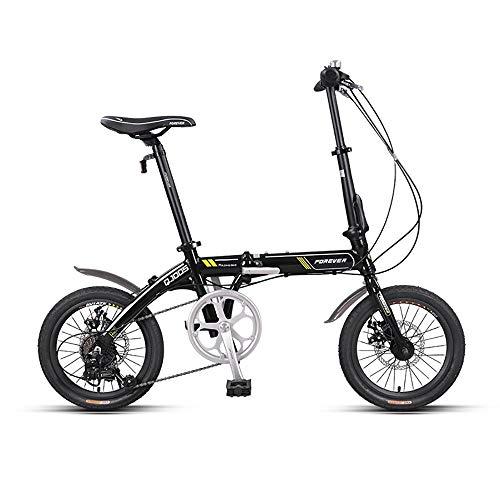 Unisex Bicicleta Plegable,16 Pulgadas,First Class Urbana Bici Plegable,Adulto Folding Bike con Doble...
