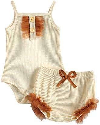 MAHUAOYIXI Mouwloze babyromper met dunne bandjes voor pasgeborenen en meisjes gestreept 024 maanden zomer