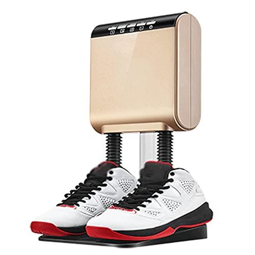 SOFACTY Secador de Zapatos Secador de Botas Doble calefacción Nuclear, secador de pie portátil eléctrico para Eliminar Mal Olor y desinfectar,Oro