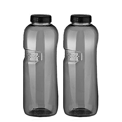 2 x Tritan Trinkflasche 0,75L Kavodrink Wasserflasche schwarz Sportflasche BPA frei Flasche 750ml