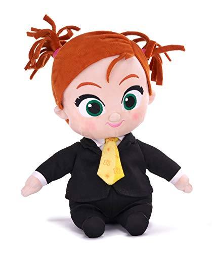 Boss Baby 2 figuras de peluche blandas de 28 cm edición nueva | Boss o Tina de juguete, película 2021, figuras de acción de dibujos animados originales niños, decoración de cumpleaños regalo (Tina)