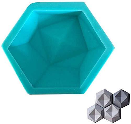 ZCYY 3D Geometric Hexagon Handicraft Silikonform Betonformen DIY TV Hintergrunddekoration Clay Brick Crafts Herstellung Form für Wand Steinfliesen, DIY Candlestick Kerzenhalter Form, Bl