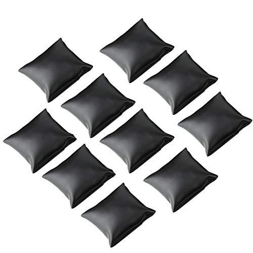 sansheng Kunstlederarmband/Uhrenkissen für Schmuck, Schwarz, 10 Stück