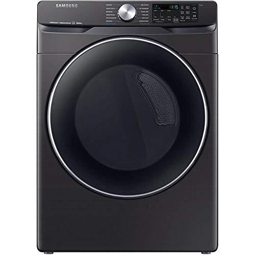 Samsung Fingerprint Resistant Black Stainless Steel Gas Steam Dryer