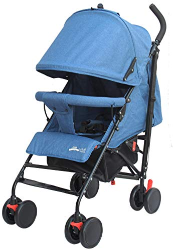 Buggy Stroller Travel Buggy Summer Blue Lightweight Pushchair for Kids Little Bambino ✨Extendable upf 50+ sun canopy and built-in sun visor ✨EASY USAGE - One-hand foldable buggy makes taking your baby for travels or walks a simple pleasure. It could stand on its own so you could take care of your baby with less things to worry about. ✨ADJUSTABLE BACKREST - Travel stroller backrest can be adjusted in sitting or reclining mode, also the footrest could be adjusted for baby need. Suitable for children from 0 to 36 months 1