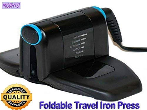 MOSHTU Folding Portable Travel Iron Electronic Foldable Mini Handheld Travelling Business Trips...