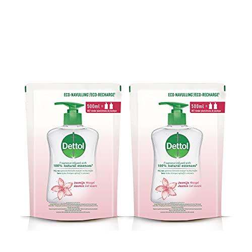 Dettol Gel Pump Jasmine – navulverpakking – 2 x 500 ml