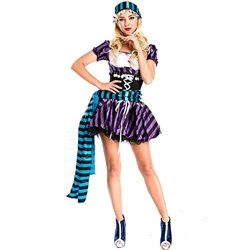 Cosplay vrouwen halloween kostuum, volwassen vrouw zigeuner waarzeggerij tovenaar heks korte rok Circus jurk, Pasen kostuum partij spel uniform kostuum