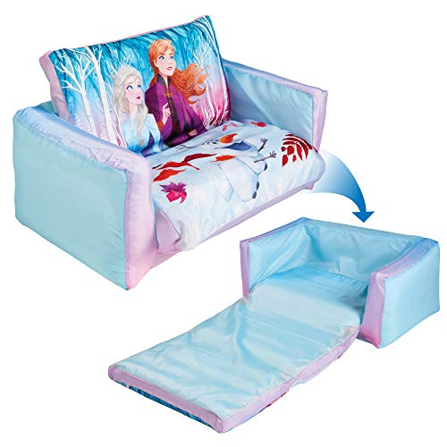 Frozen 286FZO Disney Flip Out Mini 2 in 1 Kids Inflatable Sofa and Lounger, Blue