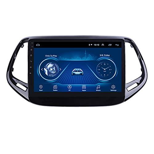 Android 10.0 8 Core Car stereo radio de navegación por satélite FM AM Autoradio 2.5D Pantalla táctil para Jeep COMPASS 2017-2018 Navegador GPS Bluetooth WIFI GPS USB SD player(Color:4G+WIFI 2G+32G)