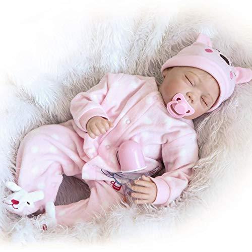 Q-YR Reborn Baby Dolls Girl 55 Cm Realista Silicona Silicona Vinilo Reborn Bebés Niño Niño Correcto Recién Nacido Muñeca Durmiendo Niños Juguetes De Regalo