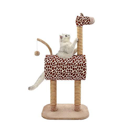 Tiragraffi Sisal Pet Struttura for Arrampicarsi Albero Interattivo Cane Tessitura Artiglio Grinding Grande Albero Scratching Cat in Estate (Colore : Giraffe, Dimensione : Taglia Unica)