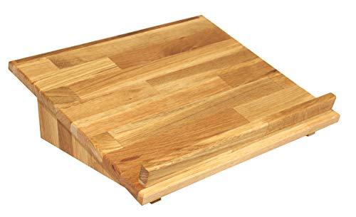 Isfort Holzhandels GmbH Lesepultaufsatz, Eiche geölt, als Tischaufsatz Oder Zum Stehpult erweiterbar, Echtes Holz