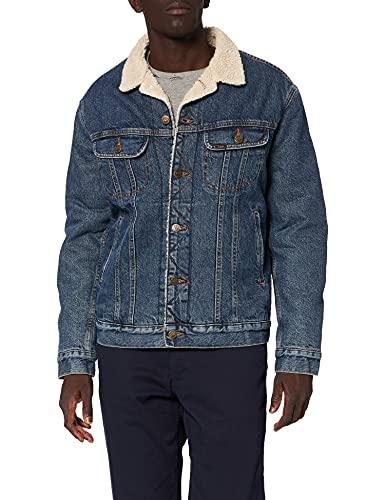 Lee Sherpa Jacket Chaqueta, Azul (Dark Stone SS), Large para Hombre