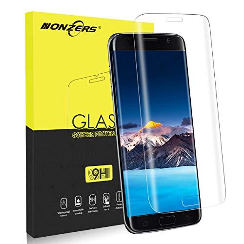 Panzerglas für Samsung Galaxy S7 Edge Schutzfolie, 1 Stück, 3D Runde Kante Displayschutzfolie 9H Härte Bubble-frei Ultra Klar Kratzfest Fingerabdrucksensor Kompatible Panzerglasfolie Galaxy S7 Edge
