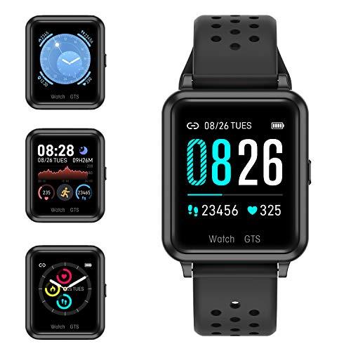 Reloj Deportivo con Toque de Pantalla Completa, Reloj Inteligente con Monitor de Frecuencia Cardíaca y Presión Arterial, Monitor de...