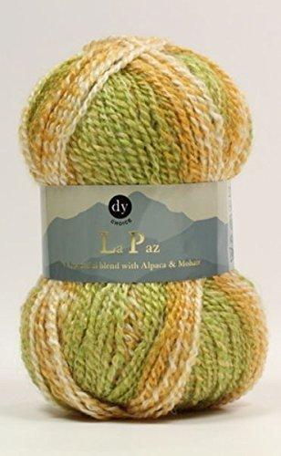 DY CHOICE La Paz Aran Knitting Yarn 100g With Alpaca /& Mohair 03 COCOA