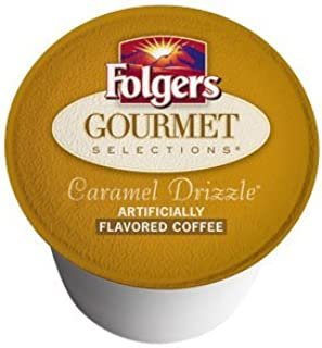 Folgers Gourmet Selections K-Cup Caramel Drizzle 18 Pack in Factory Box for Keurig
