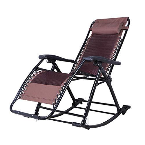 XJN Mecedora Gravity Zero con Paleta, Mecedora Relax Sillón reclinable Relajación, Respaldo...