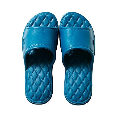ypyrhh Hombres Mujeres Sandalias,Zapatillas,Zapatillas de baño con Sabor-Azul_35-36,Sandalias De Ducha de Casa