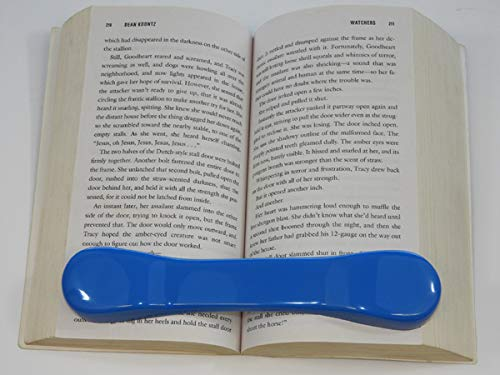 BookBone (TM) - Light Blue - and Other Colors - Made in The USA - The Original Weighted Rubber Bookmark