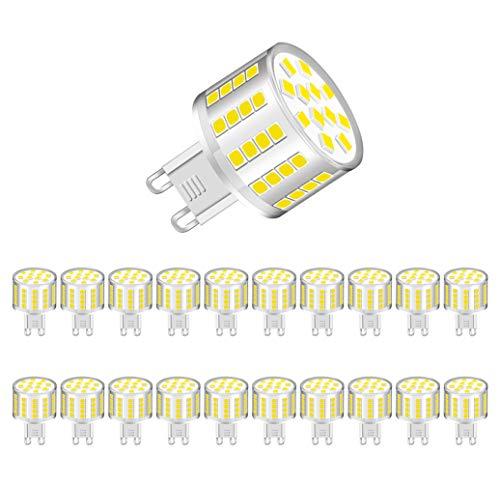 MENTA G9 LED Lampe, 5W 400Lumen LED Leuchtmittel, in Kolbenform mit G9-Sockel, Kaltesweiß 6000K, Energiesparlampe ersetzt 50W, 360° Abstrahlwinkel, Nicht dimmbar, 2 Jahre Garantie, 20er-Pack