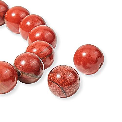 OLYCRAFT 96 pz 8mm Agata Rossa Naturale Perline Filamenti di Perline Marmo Rosso Rotondo Perline Allentate della Pietra Preziosa Pietra Energetica per Braccialetto Collana Creazione di Gioielli
