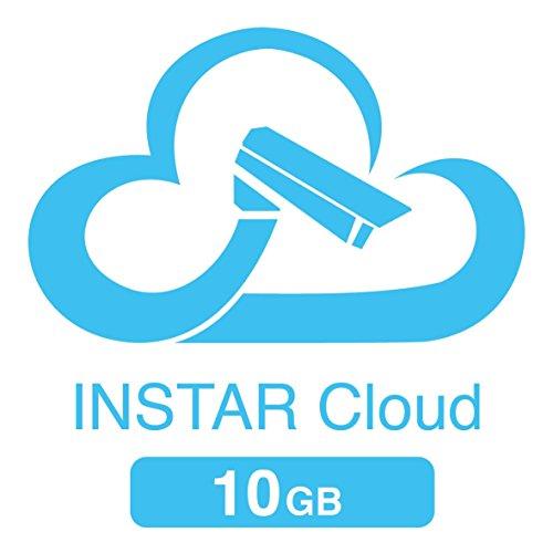 10 GB opslagquotum voor de INSTAR Cloud (10 GB voor 1 jaar / HTML5 video afspelen/geavanceerde bewegingsdetectie/beheer van alarmopnames/online NAS/NVR)