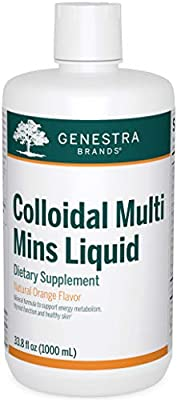 Genestra Brands - Colloidal Multi Mins Liquid - Multi Mineral Formula in Liquid Form - 33.8 fl. oz.