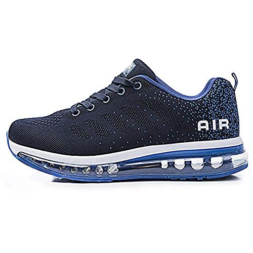 TORISKY Unisex Sportschuhe Herren Damen Laufschuhe mit Luftpolster Turnschuhe Sneakers Air Schuhe Trainer Leichte Profilsohle(833-BL42)