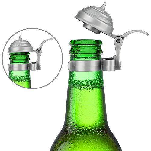 Barbuzzo Oktoberfest Boccale di Birra Bottiglia Toppers (Set da 4)–Adatto a Qualsiasi Standard Birra o Soda Bottiglia