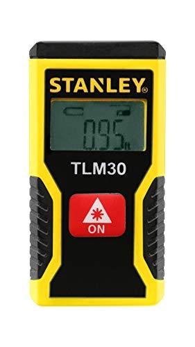 Stanley laserafstandsmeter TLM30 (met eenvoudige één-knops-klikmeting, digitaal display, laserdiode 635 nm, laserklasse 2) STHT9-77425