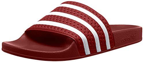 Adidas Adilette, Unisex-Erwachsene Badeschuhe, Rot (Light Scarlet/White/Light Scarlet), 46 EU 11 UK