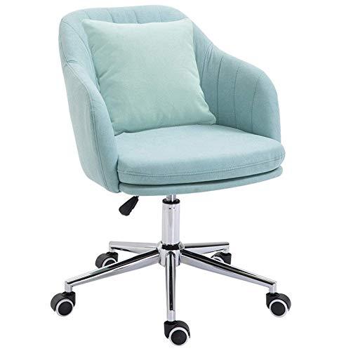 YYAI-HHJU Arbeitsstuhl Gaming Chair Computer Schreibtischstuhl Mit Rädern Mid-Back Leinen Verstellbarer Drehstuhl Für Mädchen Home Working Adults Computer Chair