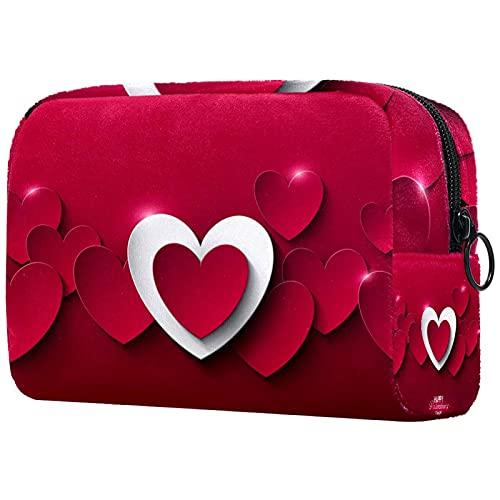 Neceser de viaje de nylon, Dopp Kit de afeitar bolsa de aseo organizador feliz día de San Valentín rojo rosa amor