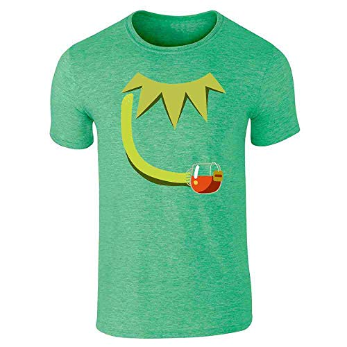 Pop Threads But Thats None of My Business Frog Costume Heather Irish Green L Graphic Tee T-Shirt for Men
